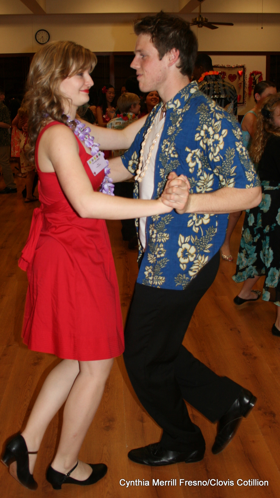 Hawaiian Theme Clovis Cotillion couple
